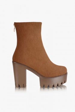 Botki Trouble Maker Brown Booties