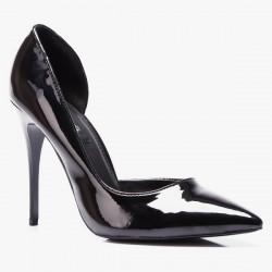 Szpilki Miss 5 Asymmetric Black Patent
