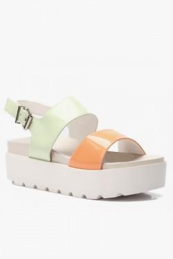 Sandały Two Colors Green/Orange