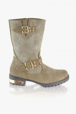 Worker Boots Britany Beige/Gold