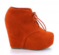 Camilla1 Wedge Bootie Orange
