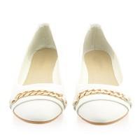 Balerinki Diana White Golden Chain