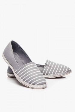 Espadryle Stripes Grey