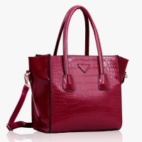 Torebka Damska Three Zipper Burgundy