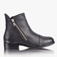Botki Craze Black Pu Booties