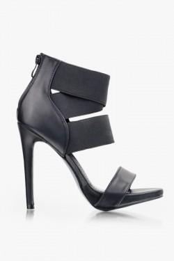 Sandały na obcasie Kayla Black Pu