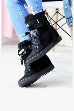 Sneakersy Arly Czarne na Koturnie 6943
