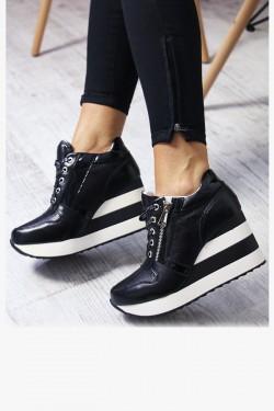 Sneakersy Leo2 Czarne na Katurnie - Zamek 7027