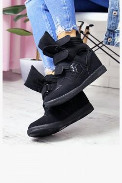 Sneakersy Lupo Czarne Zamsz 6932