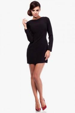 Mini sukienka z dekoltem i wycięciem na plecach czarna