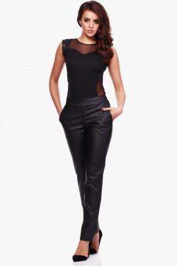 Spodnie z ekologicznej skóry Caytlin Black