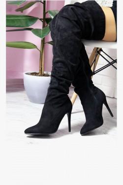 Muszkieterki Lady Czarne Drapowane Szpic 6951