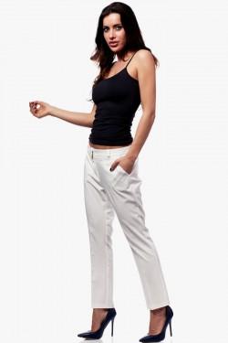Spodnie na kant 7/8 Glamour Ecru