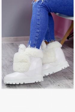 Śniegowce Accros01 Białe Futerko 7183