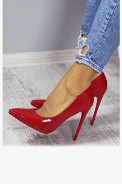 Czółenka Miss Me Czerwone na Platformie - Szpilki 7144