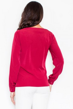 Bluzka Gold Zipper Red
