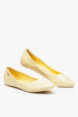 Pastelowe Balerinki Remos Yellow