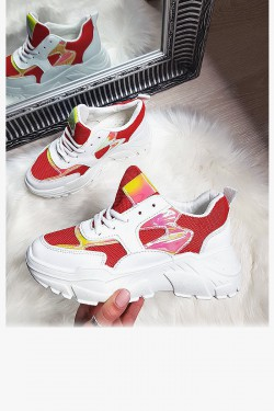Białe Adidasy Czerwone Wstawki 8187