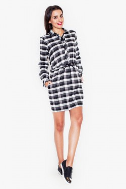 Sukienka Check Black/White