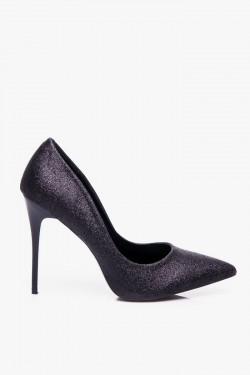 Szpilki Miss 9 Black Glitter