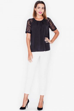 Bluzka Button Lace Black