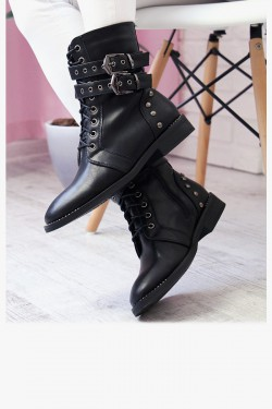 Botki ESME Black Worker Boots