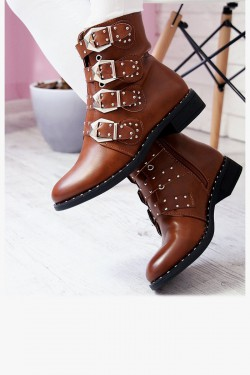 Botki CARLA Brown Worker Boots