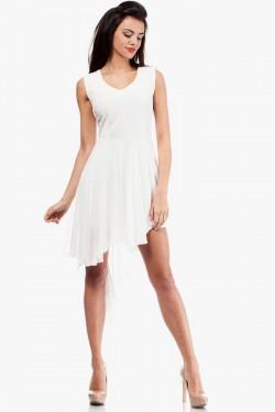 Wieczorowa sukienka Asymetric Ecru