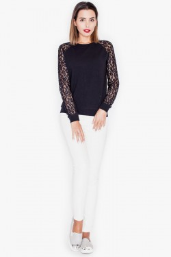 Bluzka Sleeve Lace Black