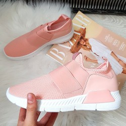 Różowe Siatkowe Wsuwane Adidasy 2 Gumy 8375