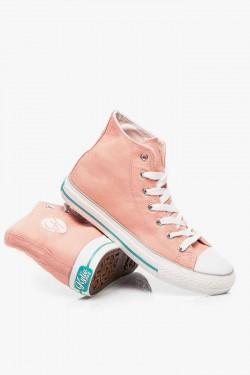 Tenisówki HighTop Jeans Pink