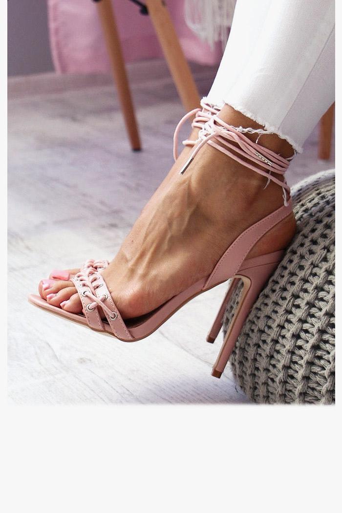 Sandały AURELIA Różowe Gorset