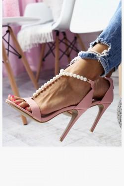 Sandały VANESSA Różowe - Perełki