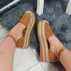 Rude Zamszowe Sandały Espadryle 8775