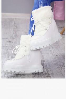 Śniegowce Accros Białe Futerko 7169