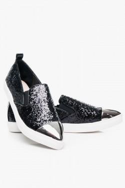 SlipOn Unique Black Glitter