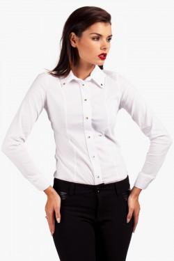 Koszula z ćwiekami Studs White
