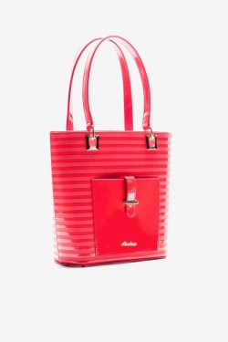 Torebka Shopper Pocket Coral Pat
