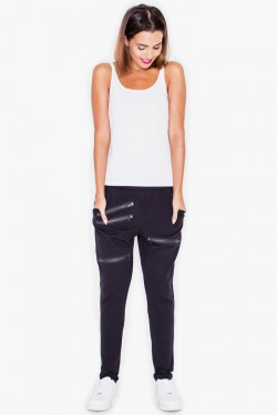 Spodnie Zipper Black