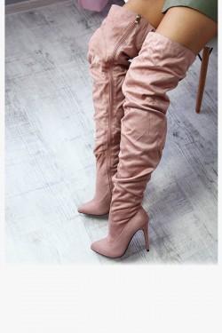 Muszkieterki Lady Różowe Drapowane Szpic 6990