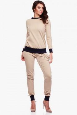 Gładka bluza Vero Beige