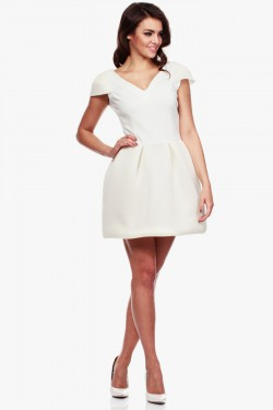 Sukienka Mini Bijou Ecru
