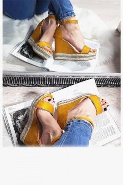 Koturny Żółte Sznurkowy Pasek w Cyrkonie  8309