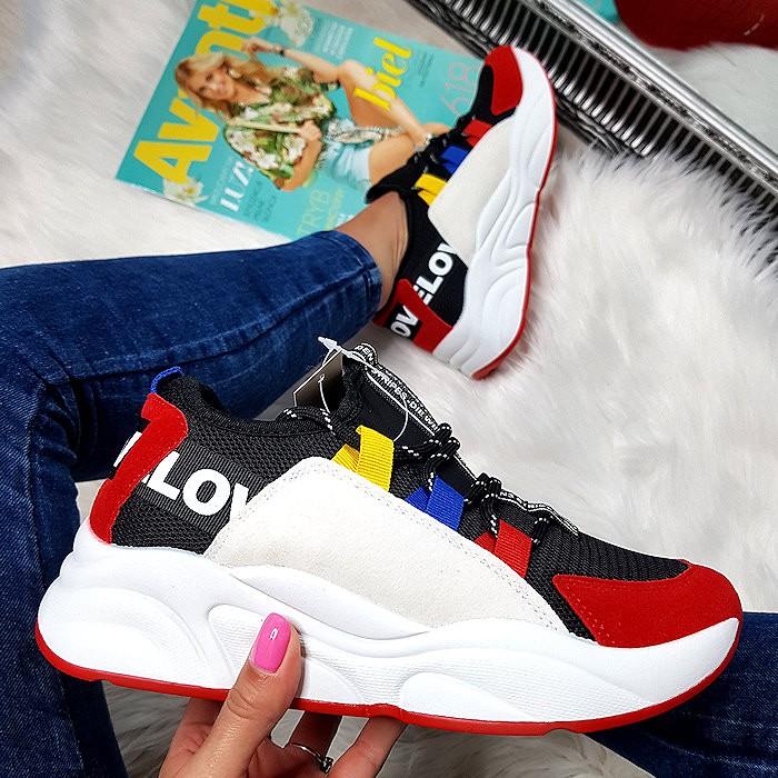 Czarne Adidasy z Czerwonym Przodem 8442