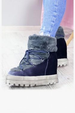 Śniegowce Accros Niebieskie Futerko 7179