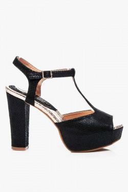Sandały na słupku Aquilla Black