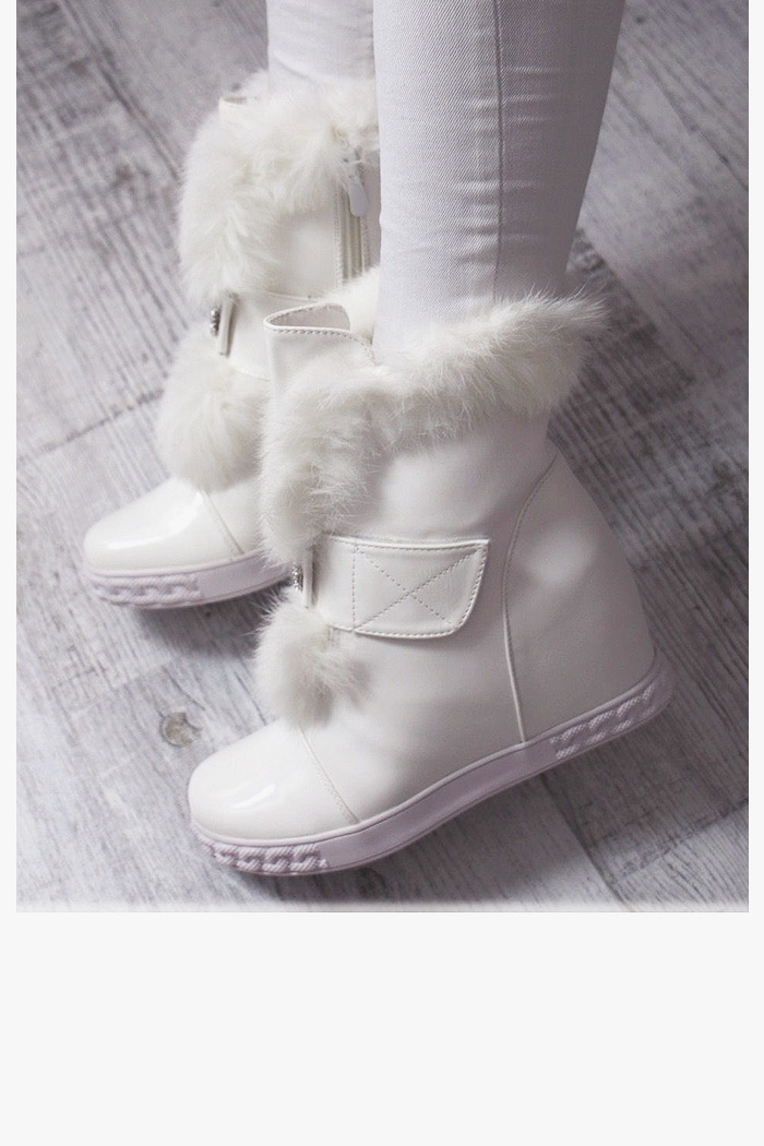 Sneakersy Daring Białe Futerko - Cyrkonie 6940