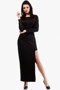 Wieczorowa suknia z długimi rękawami Lace Black