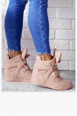 Sneakersy Lupo Różowe Zamsz 6916