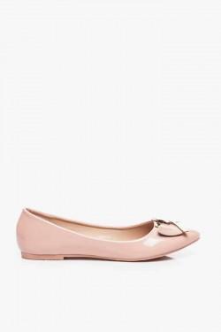 Pastelowe Balerinki Remos-2 Pink